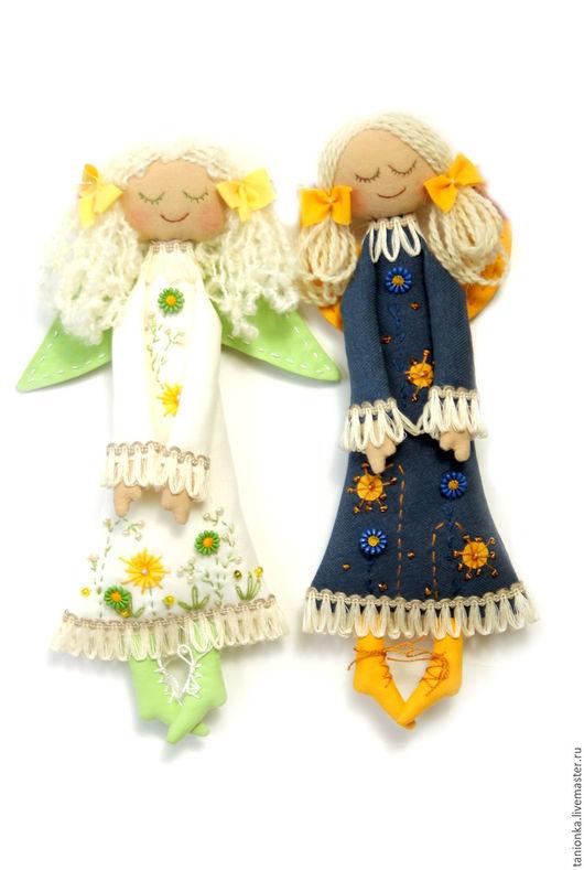 Коллекционные куклы ручной работы. Ярмарка Мастеров - ручная работа. Купить Текстильная кукла Ангел. Handmade. Текстильная кукла