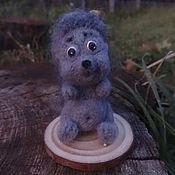 Войлочная игрушка ручной работы. Ярмарка Мастеров - ручная работа Войлочная игрушка ёжик. Handmade.
