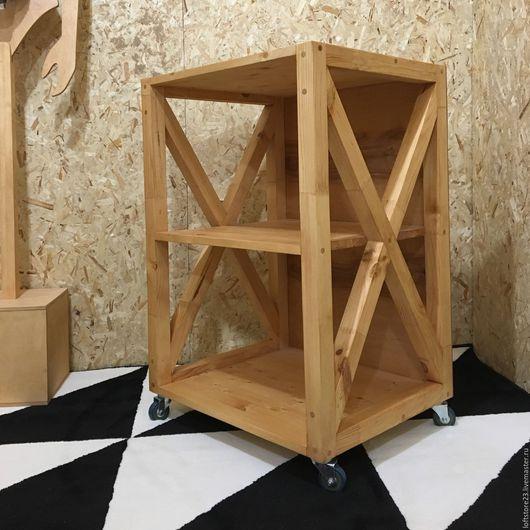 Мебель ручной работы. Ярмарка Мастеров - ручная работа. Купить Тумба TRAST в дереве. Handmade. Бежевый, лофт, дизайнерская мебель