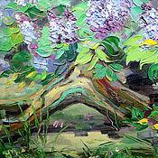 Картины и панно handmade. Livemaster - original item Oil painting the Mystery of lilac. Handmade.