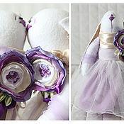 Куклы и игрушки ручной работы. Ярмарка Мастеров - ручная работа Зайцы. Сиреневая свадьба.. Handmade.