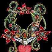 """Украшения ручной работы. Ярмарка Мастеров - ручная работа Финалист Bead Dreams: Колье """"Viva  la Vida!"""". Handmade."""