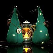 Год Крысы 2020 ручной работы. Ярмарка Мастеров - ручная работа Крыса. Новогодняя ёлка с гирляндой огней. Символ года 2020.. Handmade.