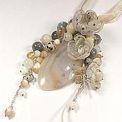 Украшения handmade. Livemaster - original item Silver beige etude. suspension.. Handmade.