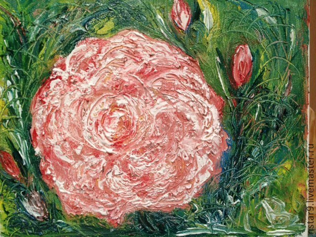 rose of the world.oil, Pictures, Moscow,  Фото №1