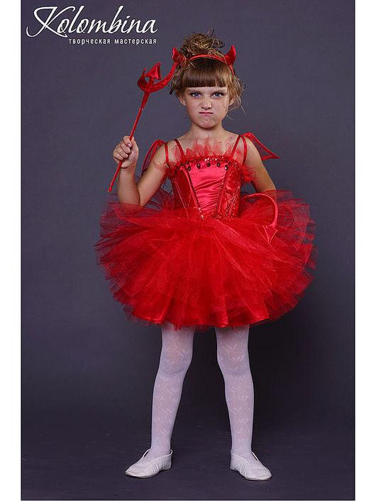 Детские карнавальные костюмы ручной работы. Ярмарка Мастеров - ручная работа. Купить карнавальный костюм дьяволёнка, чертёнка-65. Handmade.