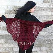 Аксессуары handmade. Livemaster - original item Dark maroon pure wool shawl. Handmade.