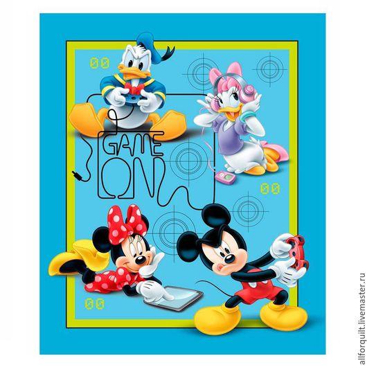 Шитье ручной работы. Ярмарка Мастеров - ручная работа. Купить Панель Mickey and Friends, 90 х110 см.. Handmade.
