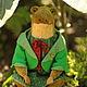 Мишки Тедди ручной работы. Тедди Лягушка 29 см сидя. Старостина Татьяна (StarBears). Интернет-магазин Ярмарка Мастеров.