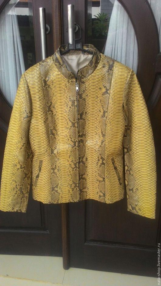 Верхняя одежда ручной работы. Ярмарка Мастеров - ручная работа. Купить Куртка из питона. Handmade. Бежевый, куртка, куртка на молнии
