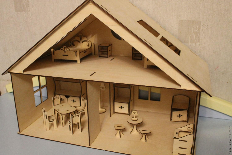 Кукольный домик своими руками из фанеры схема : с размерами чертеж для 4
