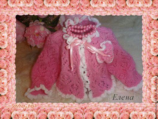 Одежда для девочек, ручной работы. Ярмарка Мастеров - ручная работа. Купить кофточка для девочки Бело-розовый зефир. Handmade. Розовый