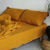 Bedding sets handmade. Livemaster - original item Linen amber color - Luxury linens. Handmade.