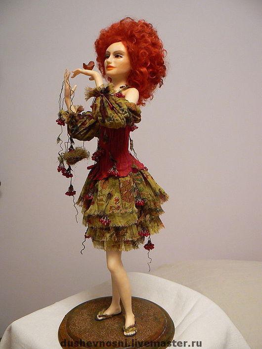 Коллекционные куклы ручной работы. Ярмарка Мастеров - ручная работа. Купить Калина красная. Handmade. Авторская кукла, Бижутерия