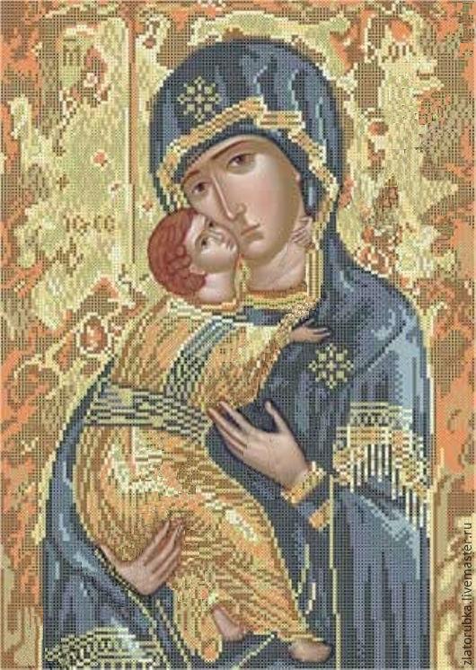 Схема вышивки владимирская божья матерь