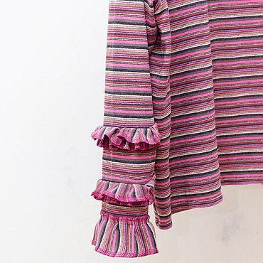 Clothing handmade. Livemaster - original item Peony jumper with ruffle hem wool viscose. Handmade.