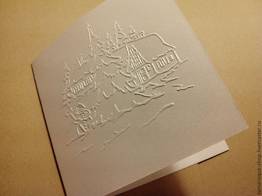 Открытки и скрапбукинг ручной работы. Ярмарка Мастеров - ручная работа. Купить Заготовка для открытки «Снеговик» 15х15 см 280 гр. Handmade.