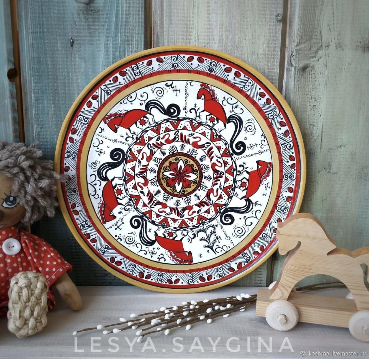 Декоративная тарелка Мезенка, Утварь, Москва,  Фото №1