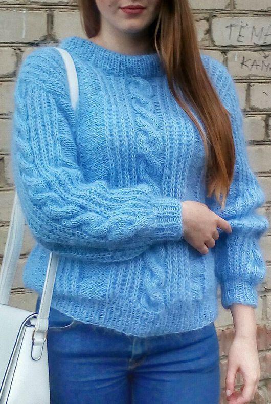 Кофты и свитера ручной работы. Ярмарка Мастеров - ручная работа. Купить Пуловер из мохера. Handmade. Пуловер вязаный, свитер женский