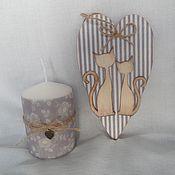 Подарки к праздникам ручной работы. Ярмарка Мастеров - ручная работа Сердечко-тильдочка и свеча. Handmade.