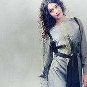 Одежда handmade. Livemaster - original item Long dress made of wool, silk and cotton. Handmade.