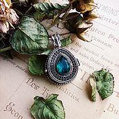 Винтаж handmade. Livemaster - original item Vintage medallion with aquamarine. Handmade.