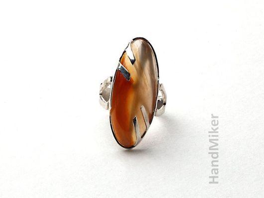 """Кольца ручной работы. Ярмарка Мастеров - ручная работа. Купить Перстень """"Дар Локи"""". Handmade. Линкурий, руна, бежевый"""