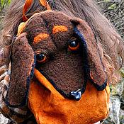 Сумки и аксессуары handmade. Livemaster - original item Sad Dachshund backpack suede.Backpack dog. Urban backpack. Handmade.