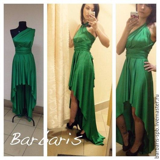 Платье-трансформер с перепадом длины