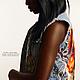 """Жилеты ручной работы. Ярмарка Мастеров - ручная работа. Купить Джинсовый жилет """"African Art"""" 2. Handmade. Голубой, джинса"""