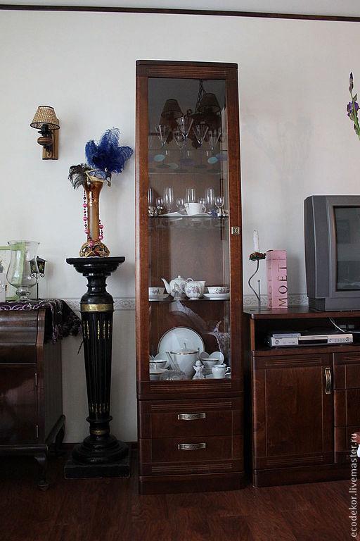 Мебель ручной работы. Ярмарка Мастеров - ручная работа. Купить Гостиная 1. Handmade. Коричневый, шпон березы, стекло