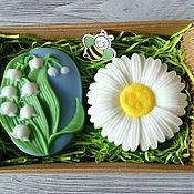 Косметика ручной работы handmade. Livemaster - original item Soap set Chamomile with lilies of the valley. Handmade.