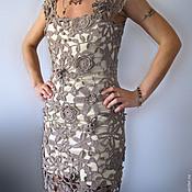Одежда ручной работы. Ярмарка Мастеров - ручная работа Маленькое бежевое платье.. Handmade.