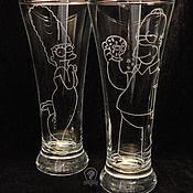 Посуда handmade. Livemaster - original item The simpsons. Beer glasses.. Handmade.