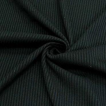 Материалы для творчества ручной работы. Ярмарка Мастеров - ручная работа Ткань натуральная трикотаж рибана черная. Handmade.