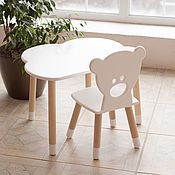 Для дома и интерьера handmade. Livemaster - original item Children`s table cloud and bear chair. Handmade.