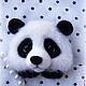 Броши ручной работы. Панда брошь. Волшебные игрушки Мэри Поппинс (AnitaG). Ярмарка Мастеров. Панда из шерсти, брошка