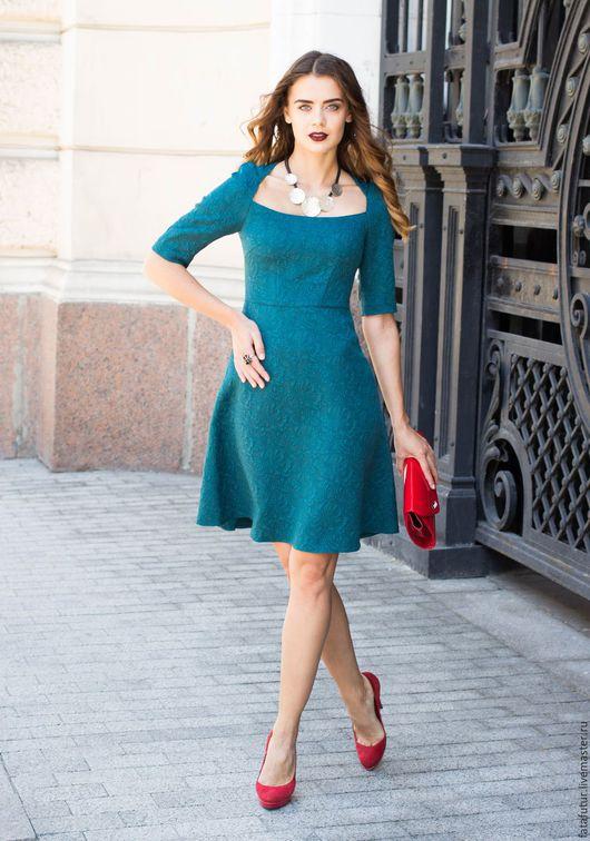 Платья ручной работы. Ярмарка Мастеров - ручная работа. Купить Париж. Handmade. Тёмно-зелёный, зеленое платье, платье для девушки