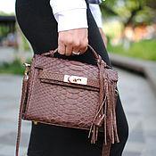 Сумки и аксессуары handmade. Livemaster - original item Bag made of Python leather Baby Kelly. Handmade.