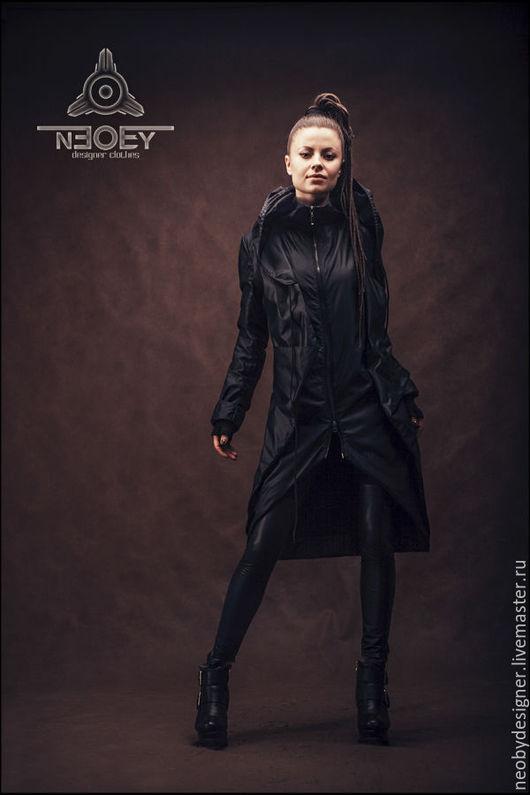 """Верхняя одежда ручной работы. Ярмарка Мастеров - ручная работа. Купить Куртка """"Inku"""" от NEOBY - IN05. Handmade. Черный, гранж"""