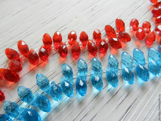 Бриолет кристалл размер 6*12 мм, материал - стекло
