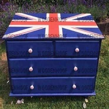 """Мебель ручной работы. Ярмарка Мастеров - ручная работа Комод лофт """" Британский флаг """". Handmade."""