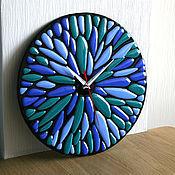 Для дома и интерьера ручной работы. Ярмарка Мастеров - ручная работа Часы фьюзинг. Handmade.