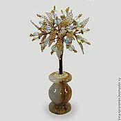 Цветы и флористика handmade. Livemaster - original item Tree of love moonstone in a vase of onyx. Handmade.