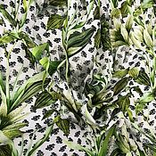 Ткани ручной работы. Ярмарка Мастеров - ручная работа ткань штапель  цветы  НМ22. Handmade.