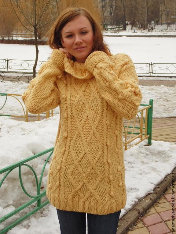1c877fd4df5 Женский свитер крупной вязки – купить в интернет-магазине на Ярмарке ...