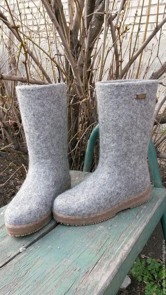 Обувь ручной работы. Ярмарка Мастеров - ручная работа. Купить Валенки женские. Handmade. Обувь для улицы, шерсть овечья