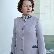 "Одежда handmade. Livemaster - original item Knitted coat ""Silver frost"". Handmade."