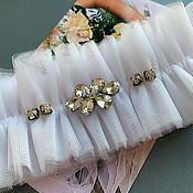 Подвязки ручной работы. Ярмарка Мастеров - ручная работа Подвязка невесты. Handmade.
