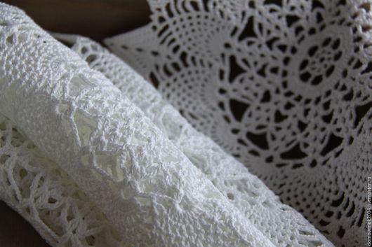 Текстиль, ковры ручной работы. Ярмарка Мастеров - ручная работа. Купить Набор для сервировки (белый). Handmade. Салфетка, кухня, белый